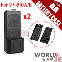 Wholesale Tyt Radio Case - 3800mAh AA Extended Battery Case For Baofeng UV-5R 5RA UV-5RE Plus TYT TH-F8 Radio (Need 6*AA Battery) 2pcs lot