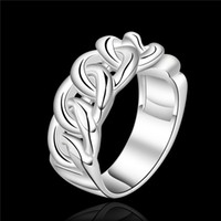 Wholesale Top Finger Rings China - Top quality fashion finger ring 7-8 # 925 sterling silver jewelry unisex free shipping