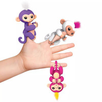 Wholesale Electronic Robot Toys - DHL Fingerlings Monkey Interactive Fingerlings Baby Monkey Electronic Fingerling On Finger Monkeys Toys For Kids Robot Dolls Free Shipping