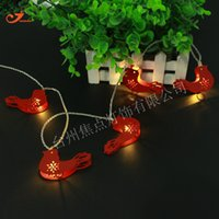 Wholesale Blue Bird House - Wholesale- Hot Sale Iron Steel Metallic 10 LED String Lights Red Bird Style Garden Garlands House Home Curtain Party Decor Battery Operated