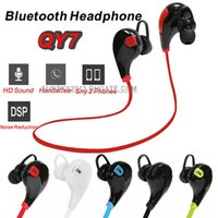 Wholesale sport cell phone earphones for sale - Group buy Bluetooth Headphones QY7 Wireless in Ear Headsets Sports Stereo Earphone Anti Sweat Earbuds Handsfree for iPhone LG Samsung HTC Xiaomi