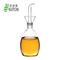 Wholesale Make Interface - High temperature resistant glass oil and vinegar bottle oil vinegar sauce condiment dining Grind arenaceous interface hand-made Eleton 350ml