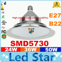 Wholesale Indoor School - 2016 Rushed Led High Bay Light E27 B22 Lighting 24W 36W 50W 5730 SMD Pendant Lamps School Shop Warehouse Outdoor Indoor Lightings Decoration