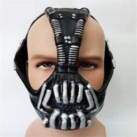 Wholesale Bane Mask Batman - Free Shipping 2017 High Quality Cos Bane Mask Cos Batman Dark Knight Mask Halloween Horror costume ball bane Helmet Latex Mask Life Size