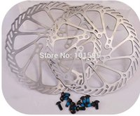 Wholesale Disc Brake Rotor 2pcs - 2PCS Round 160mm G3 Bike Disc Brake Rotor Resin Pad with 12 Bolts