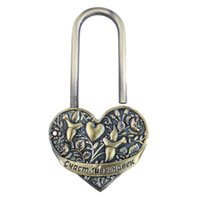 Exclusivo casamento design.keyless lock.heart lock.wedding Fechamento de bronze supplies.vintage.