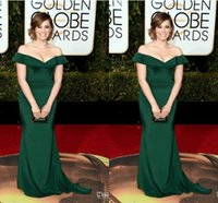 bloom pictures - 2016 rd Golden Globe Award Rachel Bloom Formal Celebrity Evening Dresses Emerald Green Mermaid Off Shoulder Prom Sexy Evening Gowns Plus