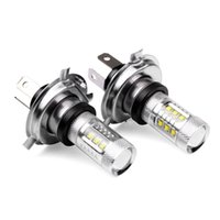 Wholesale Led Cree Headlight H4 - 1 pair Super White H4 HB2 9003 CREE 80W LED Projector Ultra Bright Heamdlamp Headlight Hi Lo Beam High Power Car Led Fog Lights