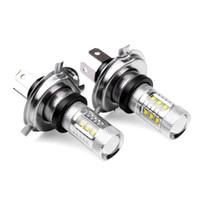 ingrosso h4 hb2-Super White H4 HB2 9003 CREE 80W Proiettore LED Ultra Bright Heamdlamplight Faro Hi / Lo Fascio Auto ad alta potenza Led Fendinebbia