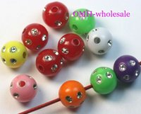 ingrosso fascini acrilici-OMH all'ingrosso 8mm 100pcs palla lanterna acrilica perline Charms perline spacer perline ZL22