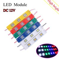 barra de luz amarilla led impermeable al por mayor-DC12V 5630 SMD 3 LED Módulo de inyección con lente impermeable Ip67 Decorativo Hard Strip Bar Barra de luz Lámpara Blanco Rojo Verde Amarillo Azul