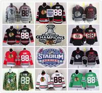 Wholesale Throwback Jersey Cheap China - Cheap Kane jerseys Chicago Blackhawks 88 Patrick Kane red,white,green,black Authentic Throwback Ice Hockey Jersey,From China