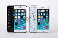 Wholesale Bluetooth Slide Out Keyboard - For iphone6 Wireless Bluetooth Keyboard Portable Ultra Thin Slide out LED Backlight Keyboard Case for Apple iPhone6 (Black White)