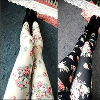 FG1509 Frauen Leggings Fashion Causal Marke Hohe Elastische legging Hose Stil Imiation Jeans Material Rose Blume Dame Polainas Perneiras