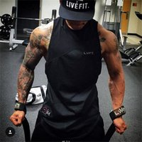 Wholesale Mens Sports Wear Clothing - 2018 Gyms Tank Tops Mens Undershirt Sporting Wear Patchwork Bodybuilding Men Fitness Exercise Clothing Vest Sleeveless Shirt