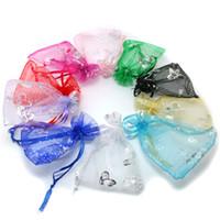 kelebek lehine çanta toptan satış-200 adet Düğün Şeffaf Organze Favor Çanta Şekeri 9 * 12 Hediye Çanta Örnekleri Ekran İpli Torbalar Renk Rastgele Tarafından Göndermek (mix eyelashbutterfly