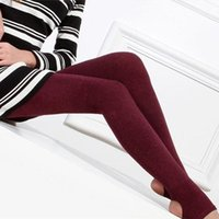 Wholesale Leggings Warm Wool - 2014 New Arrival Women Casual Warm Winter Faux Velvet Legging High Quality Knitted Thick Slim Camel wool Leggings Free Shipping