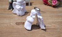 ingrosso gioielli scatole angeli-Little Angel Flocking Collana Box Floccaggio Box Box Orecchini Orecchini Gioielli Anello Collana Display Box Little Angel Collana Box regalo