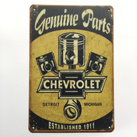 Wholesale part shop - Genuine Parts Chevrolet tin sign Vintage home Bar Pub Hotel Restaurant Coffee Shop home Decorative Metal Retro Metal Poster Tin Sign