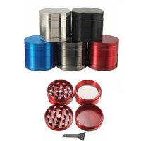 Wholesale Wholesale For Spice Grinder - Herbal Grinder 4 Parts Metal Smoking Accessories Comminuter With Handle Rolling For Tobacco Herb Spice DHL Free FJ669