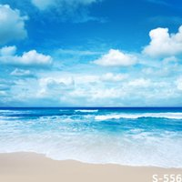 Wholesale 5 FT Custom Backgrounds Photography Backdrops Sea Beach Backgrounds Fond Photographie Holiday Vinyl Backdrops For Photography Sky3ds