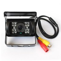 Wholesale Truck Reversing Camera 24v - Truck Bus IR Night Vision Waterproof Car Rear View Reverse Backup Camera DC 12~24V 18 IR LED CMOS