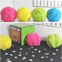 Wholesale Microfibre Mop Cloth - Microfiber Mop Ball Mini Clean Robot Kids Room Cleaner Plush Ball for Clean Room Kids Xmas Gifts CCA8084 60pair