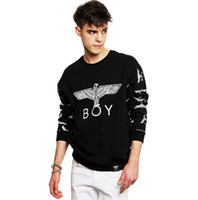 Wholesale White Boy London Sweatshirt - 2016 Spring Autumn Boy London Printed Sweatshirt Men Eagle Hip Hop Casual Hoodies Brand Streetwear Rock Pullover Tops Tracksuit