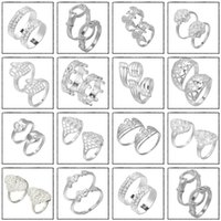 Wholesale Nice Wedding Rings For Men - 2015 Wholesale Women Men Stylish Band Rings New Silver Plated Rings Nice Fashion Jewelry For Wedding YBLH*10