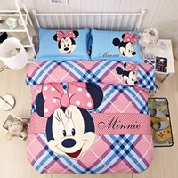 Wholesale Twin Comforter Pink Red - 100% cotton cartoon bed cover set cartoon mouse type Comforter bedding set suitfor children 3d bed set