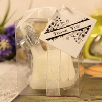 Wholesale Silver Chair Wedding Favor - Wholesale-H049 Free shipping 40pcs lot 5X4.5X7cm SILVER wedding Chair candles Favor Wedding Gift romantic smokeless decoration party