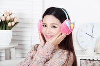 Wholesale Cheap Ear Muffs Free Shipping - Wholesale-Free Shipping Winter Girl Women Colorful Cheap Earmuffs Cute Ear Muffs,Weight:About100g,Pink Blue Yellow,Winter Ear Protector