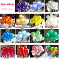 Wholesale Balloons Set - 100pcs lot air ballon 10inch Latex Birthday balloons Ball children party baby big ballon decoration inflatable wedding balloon