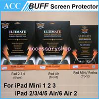 Wholesale Ipad Clear Protector - BUFF Ultimate Explosion-proof Shock Absorption Classic Crystal Clear Screen Protector Guard For iPad 2 3 4 iPad Air 5 Mini 1 2 3 Retina 50pc