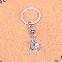 Wholesale Car Flag Usa - New Arrival Novelty Souvenir Metal usa flag Key Chains Creative Gifts Apple Keychain Key Ring Trinket Car Key Ring