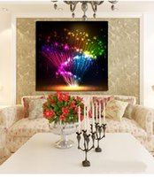 Wholesale Fiber Optics Types - 2017 new type of fiber-optic painting without frame decoration painting bedroom book house decoration painting