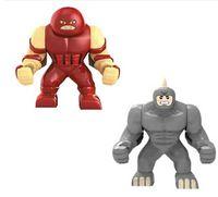 Wholesale Rhino Toys - 0191 Big Lazy Rhino VS jernaut Figures Toys Marvel Building Blocks Action Figures Bricks Toy Big Jernaut Figures