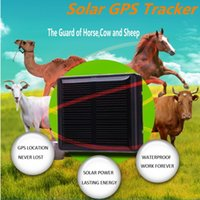 Wholesale Gps Panel - 10pcs lot pet GPS tracker with solar panel anti-lost for Animal GPS global position free platform real time gsm gps tracking V26 Ann