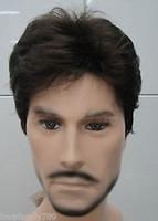 Wholesale short dark wig men for sale - Group buy gt gt gt gt Dark Brown Short Curly Menfolk Man Men Male Daily Wear Hair Wig