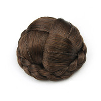 Wholesale chignon online - hanzi_beauty Small Size Knitted Hair Chignon Donut Roller Hairpieces Synthetic Hair Bun
