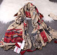 Wholesale Scarves London - Wholesale-Vintage Style 2015 fall fashion women scarf Euro Fashion British style London Tower Bridge   letter & bus flag printed scarves