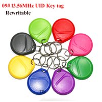 Wholesale Nfc Key - Smart key ring 09# 13.56MHz big round NFC Key tag, high frequency Contactless UID card, NFC Rewritable key tag for smart card copier