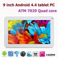 Wholesale Q88 Dual Camera Hdmi - 10PCS 9 inch Android 4.4 Quad Core ATM 7029 A33 Q88 Tablet PC 8GB ROM OTG with HDMI Dual Camera with Flashlight Tablet PC 5 Colour