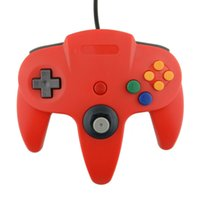 Wholesale N64 Joypad - Wholesale-Hot USB Game Wired Controller Joypad Joystick Gaming For Nintendo N64 64 PC Red Free shipping