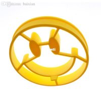 Wholesale Silicone Shaped Egg Mold - Fashion Hot Breakfast Mold Smile Shaped Pancakes Silicone Egg Mold Smiley Face Cooking Tools