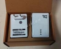 Wholesale Powerline Homeplug Av - 2*200Mbps Network Extender Homeplug AV Wall mount network Powerline Adapter Kit US EU Plug Free Shipping