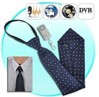 Wholesale Spy Necktie Camera - 1PC lot Spy Neckties camera Hidden 4G spy tie Camera Mini Camcorder audio video recorder with remote control DVR Detection DVR