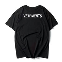 Wholesale men floral shirts - 2017 NEW TOP SS16 Summer vetements letter print men Black White short sleeve t shirt hiphop STAFF Fashion Casual Cotton tee S-XL