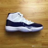 Air Retro 11 XI UNC gana como 82 Midnight Navy Men Zapatillas de baloncesto Zapatillas de deporte Jumpman Calzado deportivo Real Carbon Fiber Blue White Shoes