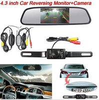"Wholesale car backup camera monitor system - Wireless Auto 4.3"" car Backup Mirror Monitor System IR Night Vision Backup Camera"